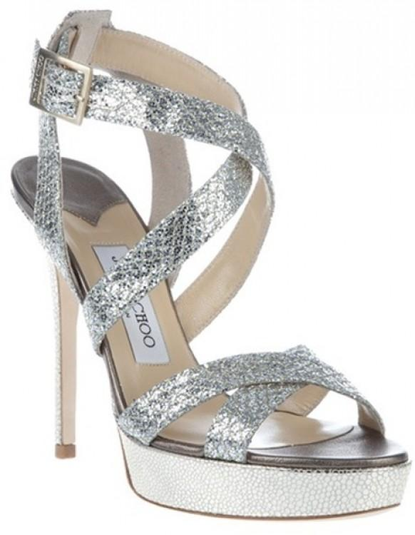 1cc81d72c0f Jimmy Choo Wedding Shoes ♥ Chic Wedding Shoes. Weddbook ♥ Vamp Glitter-Coated  ...