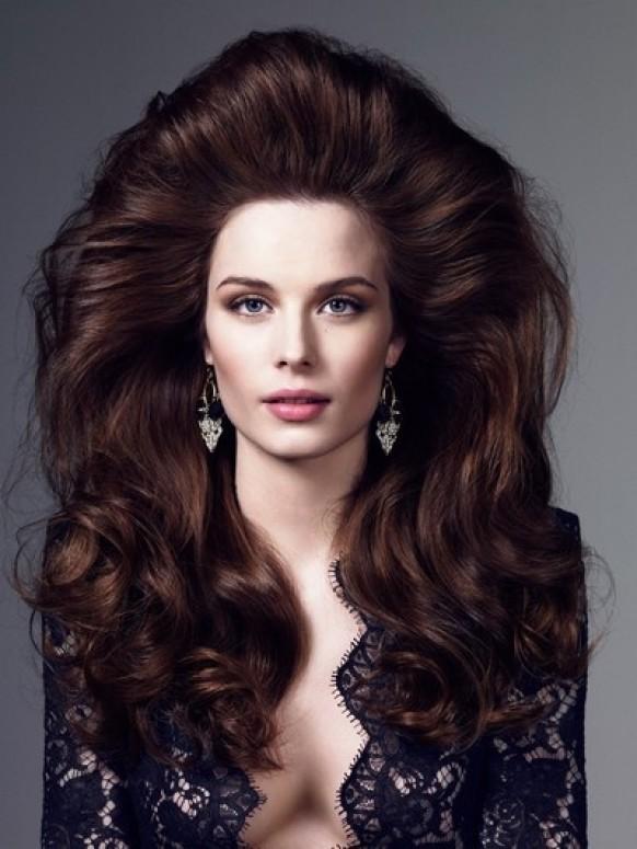 Длинные волосы с начёсом фото