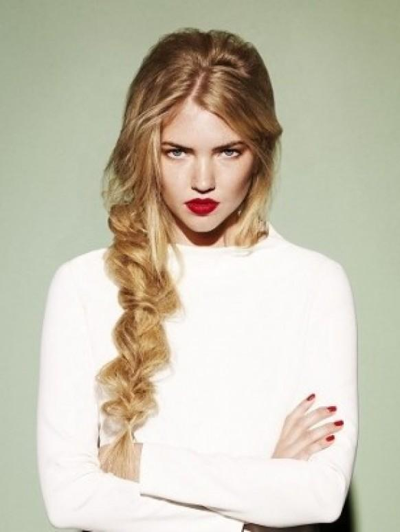 Loose Side Braid Hairstyle ♥ Simple Wedding Hairstyles For Garden