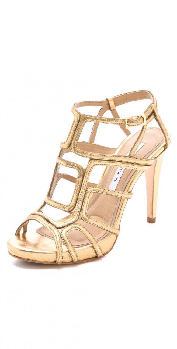 High Heel Wedding Shoes - Gold Wedding High Heel Sandals #1331677 ...