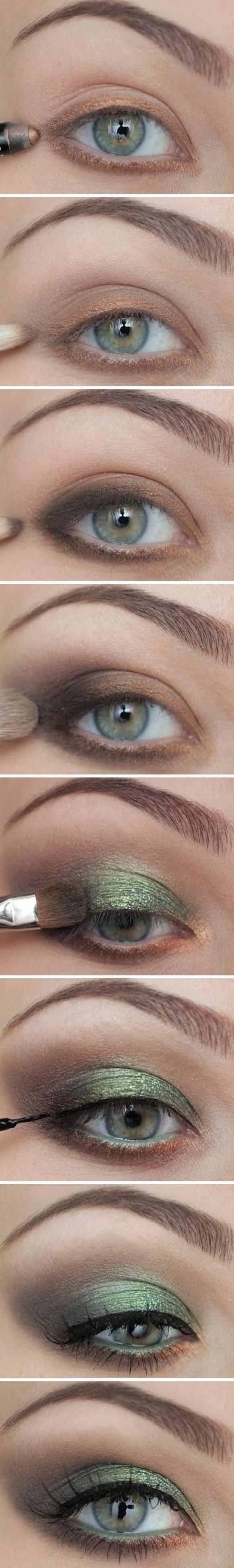 Best Bridal Makeup ? Green Smokey Eye Makeup #1702735 ...