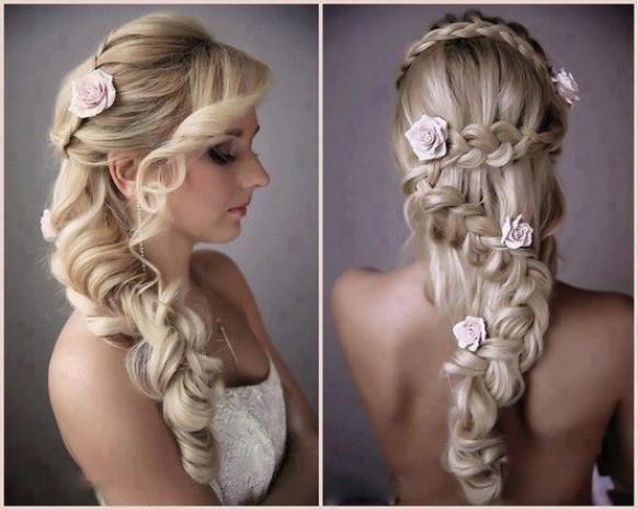 Surprising Roses Braid Wedding Hairstyle Gorgeous Wedding Hairstyles For Short Hairstyles Gunalazisus