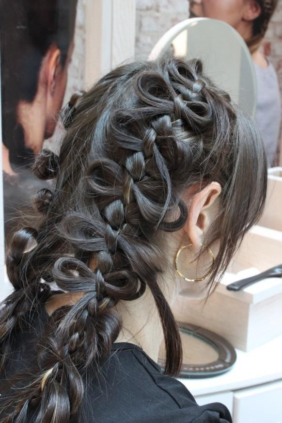 Strange Unique Bow Braid Wedding Hairstyles For Long Hair 1911788 Weddbook Hairstyle Inspiration Daily Dogsangcom