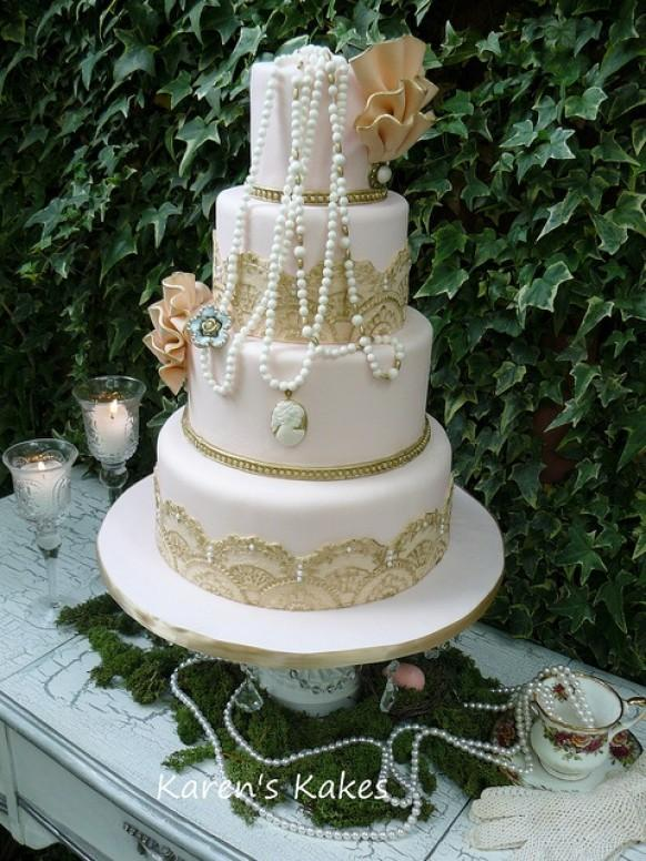 Wedding Cake Vontage Champetre