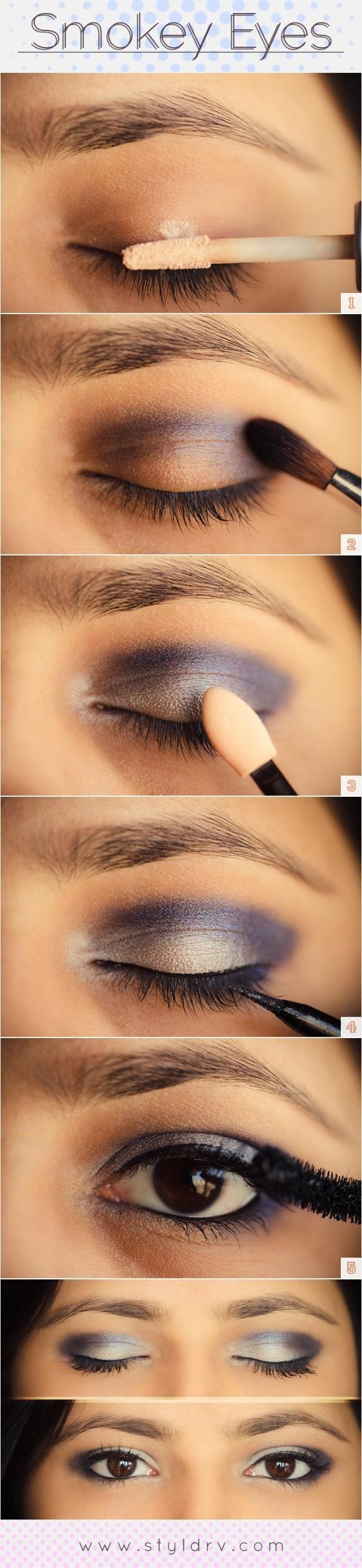 Как сделать макияж смоки айс пошаговое фото карие глаза