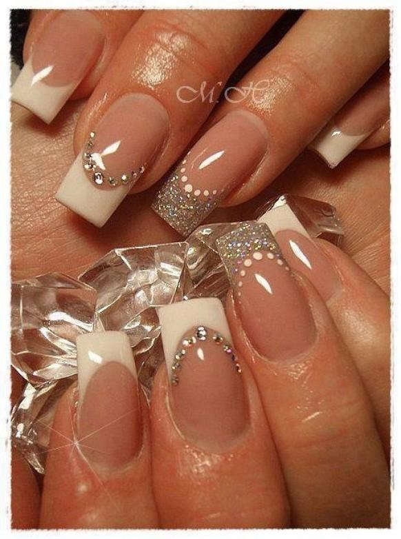 Glitter French Manicure Fade Can You Say Wedding Nails: Wedding Nails / Manicure / Ślubny Manicure #1977370