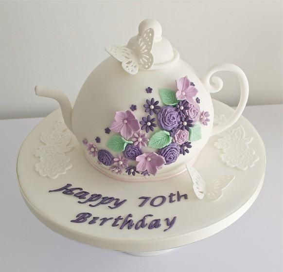 Wedding cakes teapot 70th birthday cake 1987648 weddbook for 70th birthday cake decoration ideas