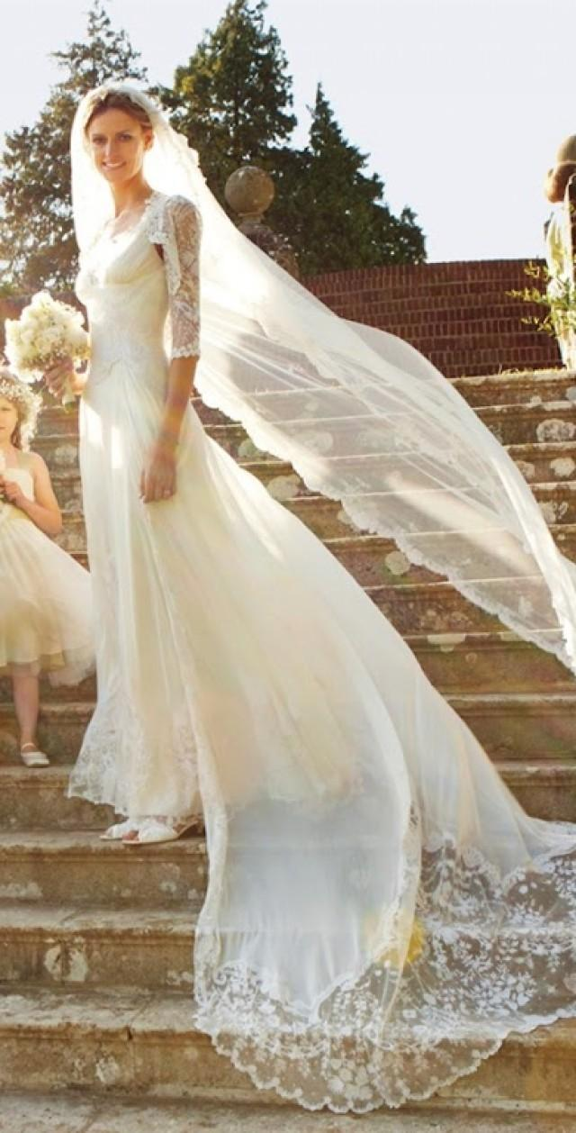 classic white wedding dress by alice temperley 2039863