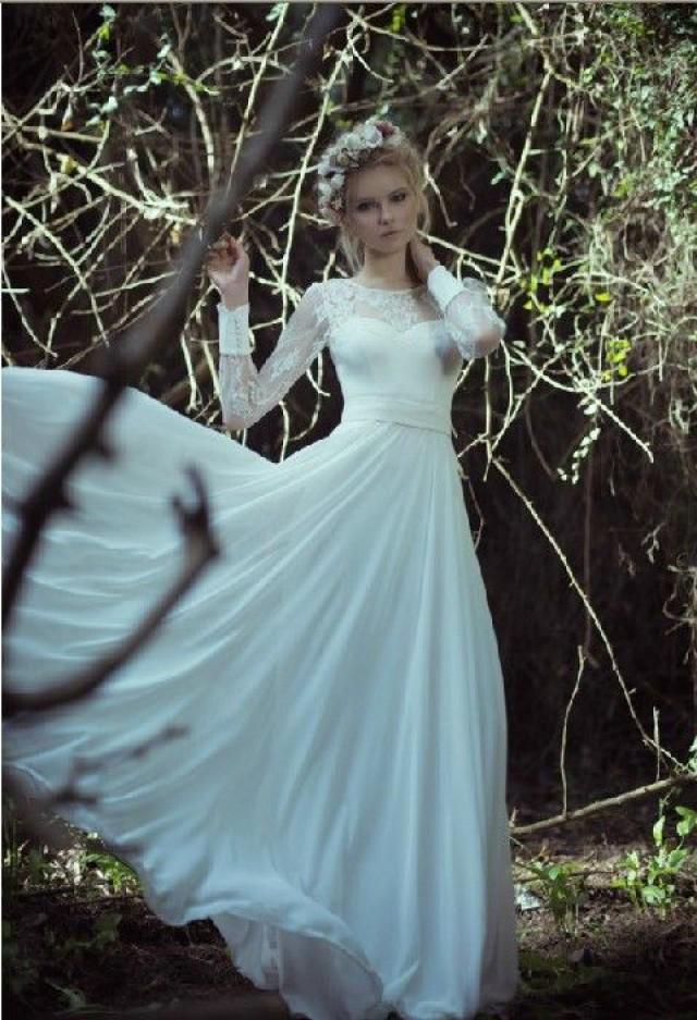 Long Sleeve Wedding Dresses Size 14 : Long sleeve wedding dress size