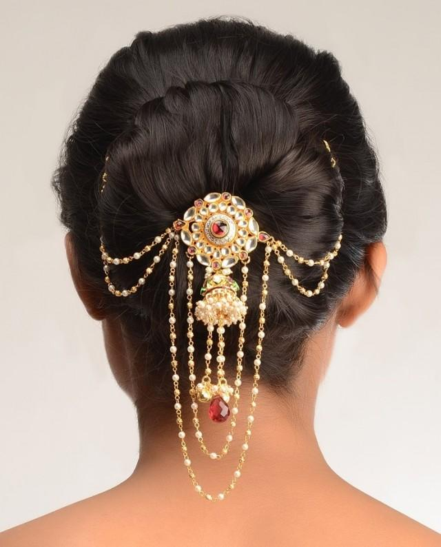 Sophisticated Wedding Hair Pin By Pallavi Kundan 2046618