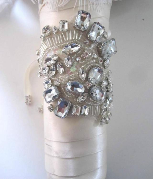 Bridal Wedding Flowers Bouquet Jewelry Beaded Embellishment Wrap Jeweled Bouquet 2053139