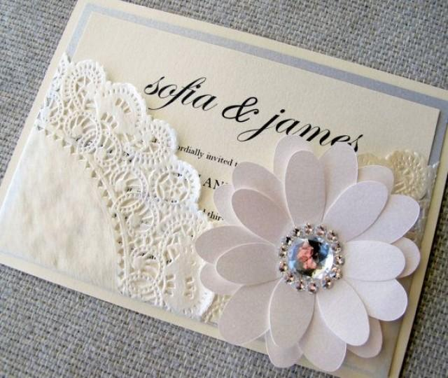 Diy Wedding Invitations Paper Doilies Wedding Invitation Ideas