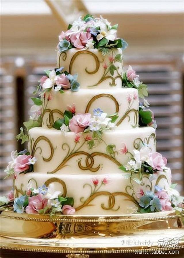 Wedding cakes garden wedding cake 2065981 weddbook for Garden wedding cake designs