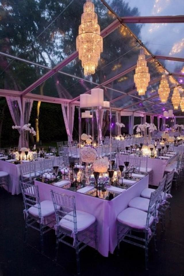 Decor clear wedding tent 2071322 weddbook for Outdoor party tent decorating ideas