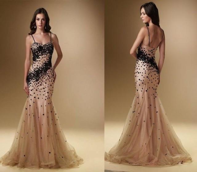 2014 sexy beading mermaid bridal wedding gown prom evening formal