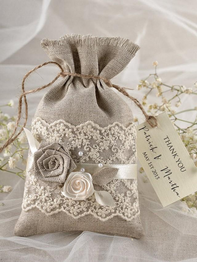 rustic-wedding-favor-bag-lace-wedding-favor-bag-wedding-thank-you-bag ...
