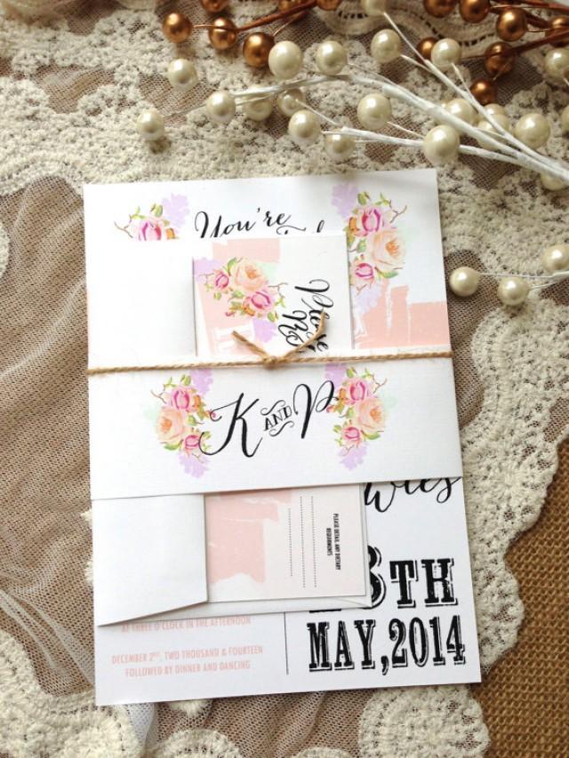 rustic wedding invitation suite  unique  custom designed wedding, Wedding invitations