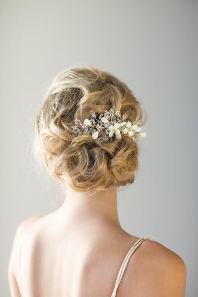 Bridal Hair Comb Beach Wedding Hair Accessory Crystal Hair Comb Wedding Head Piece - New ...
