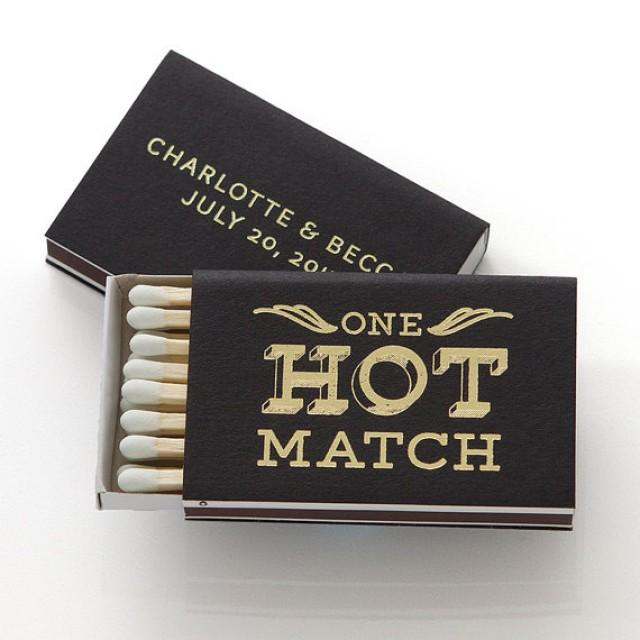 Wedding Favors Party Favors Custom Wedding Matches Foil Stamped Match