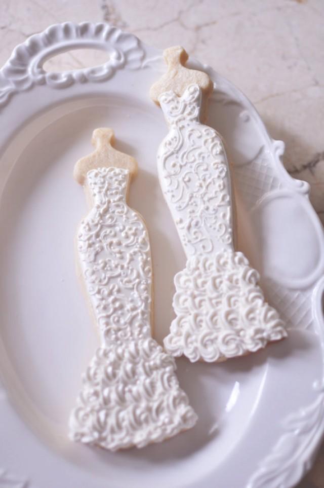 10 Mermaid Gown Lace Wedding Dress Cookies 2253103