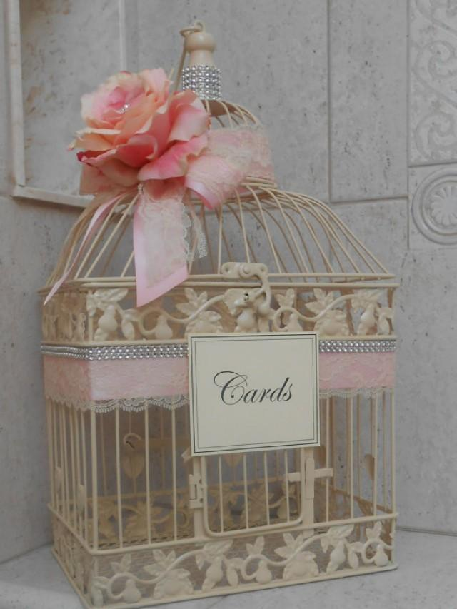 Birdcage For Wedding Gift Cards : Birdcage Wedding Card Box / Ivory Wedding Birdcage / Wedding Card ...