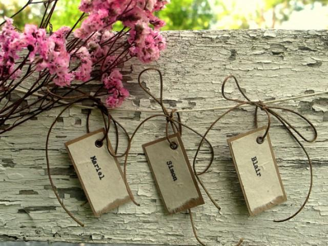 Wedding Favor Hanging Gift Tags : Kraft & Ivory Typewriter Hanging Wedding Favor Tags - Neutral Wedding ...