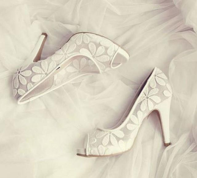 wedding photo - High Heel Lave Ballet Shoes for Weddings