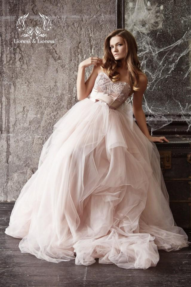 Wedding dress blush wedding dress blush bride dress for Fuchsia dress for wedding