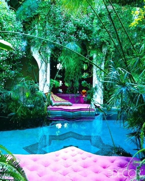 Garden wedding moroccan garden for honeymoon 790269 for Moroccan style garden ideas