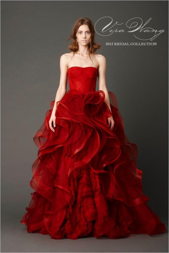 scarlet wedding dress