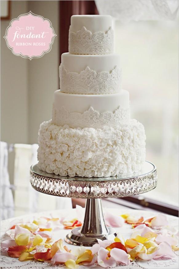 wedding photo - Diy Fondant Ribbon Roses