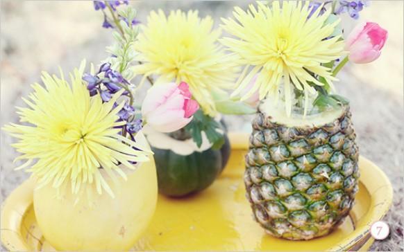 Centros de mesa tropicales foro organizar una boda - Pinas decoradas para centro de mesa ...