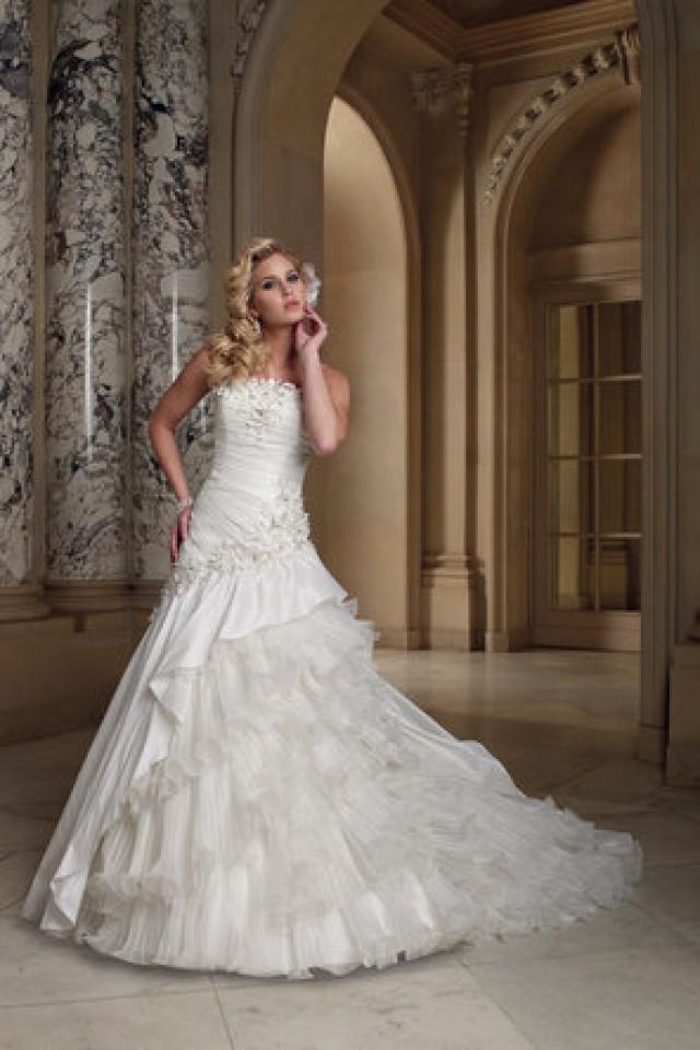 Dress david tutera for mon cheri 793968 weddbook for Removable skirt wedding dress davids bridal