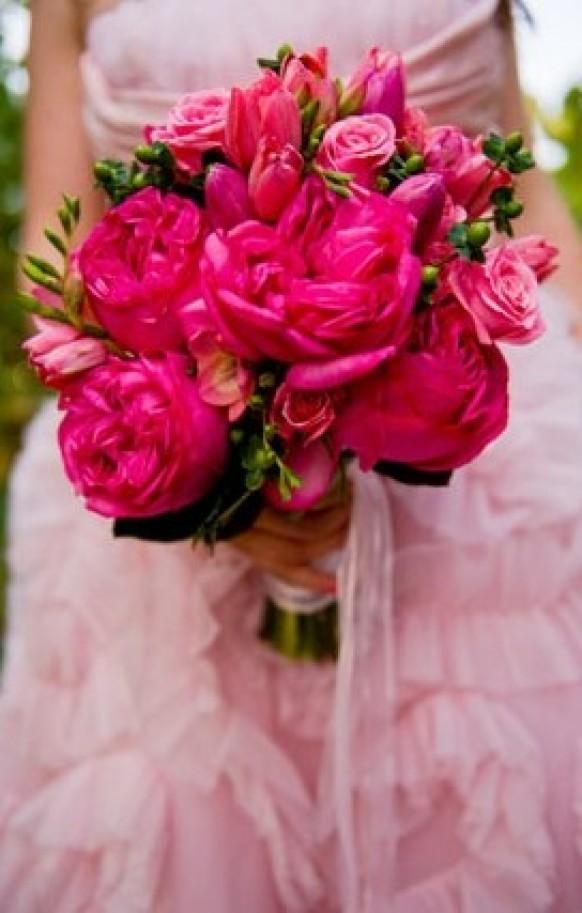 pink wedding  pink wedding bouquets   weddbook, Natural flower