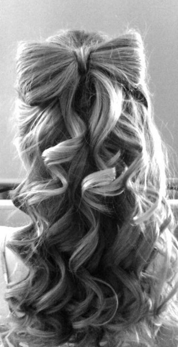 Cute Wedding Hairstyle Wavy Hair