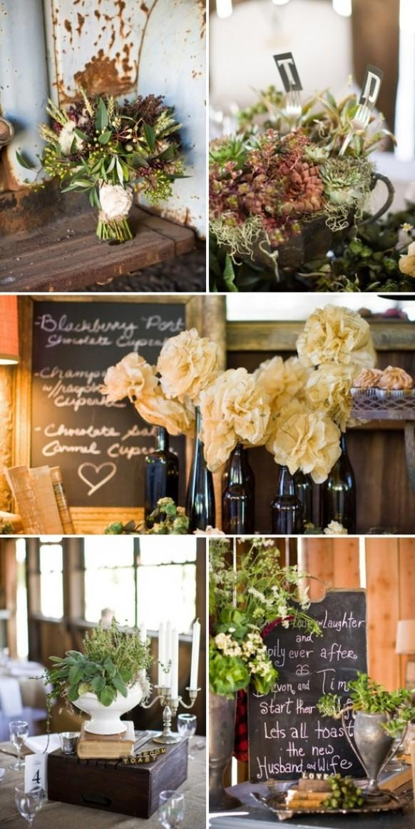 Rustic wedding rustic wedding reception decor 800843 for Country wedding reception decorations