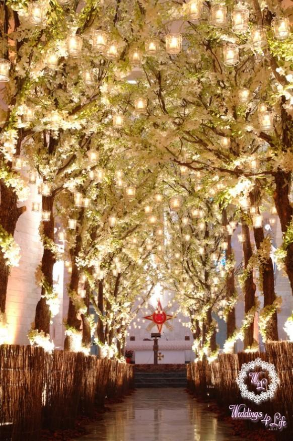 Wedding ideas trees weddbook ceremony decorations junglespirit Images