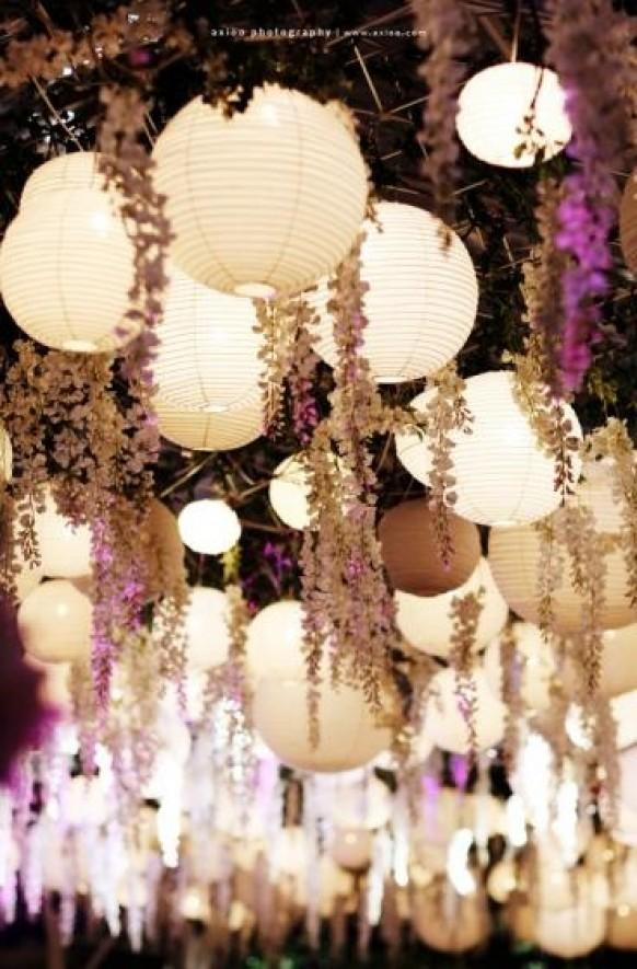 Syahenriques likes weddbook weddbook lanterns with hanging flowers country garden wedding decoration idea chinese paper lantern for wedding decoration decor country light gift junglespirit Image collections