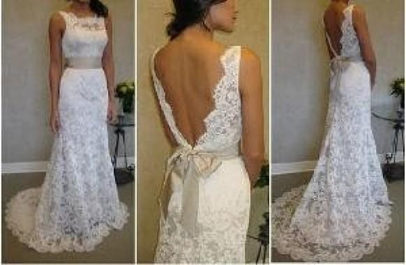 Super Elegant French Lace Wedding Dress By Sash By