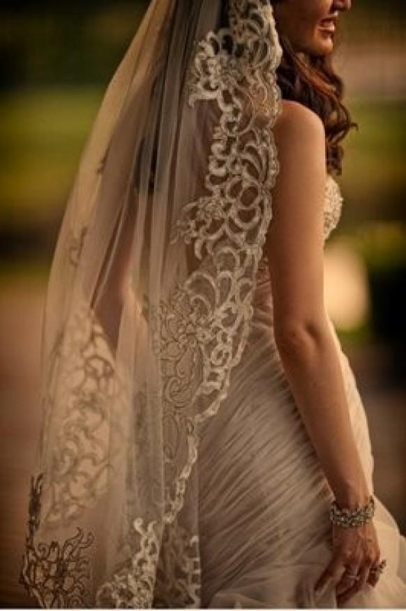 Mantilla Veil Vintage Wedding Mantilla Veil 804863