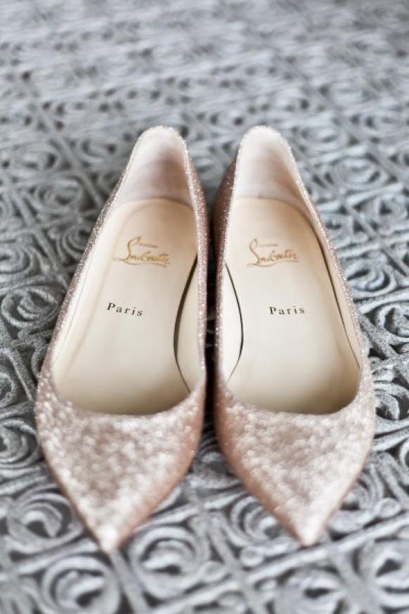 christian louboutin flat bridal shoes