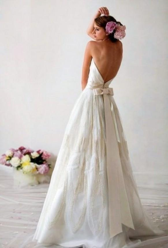 Wedding dresses simple wedding dress 805669 weddbook for Low back bras wedding dress