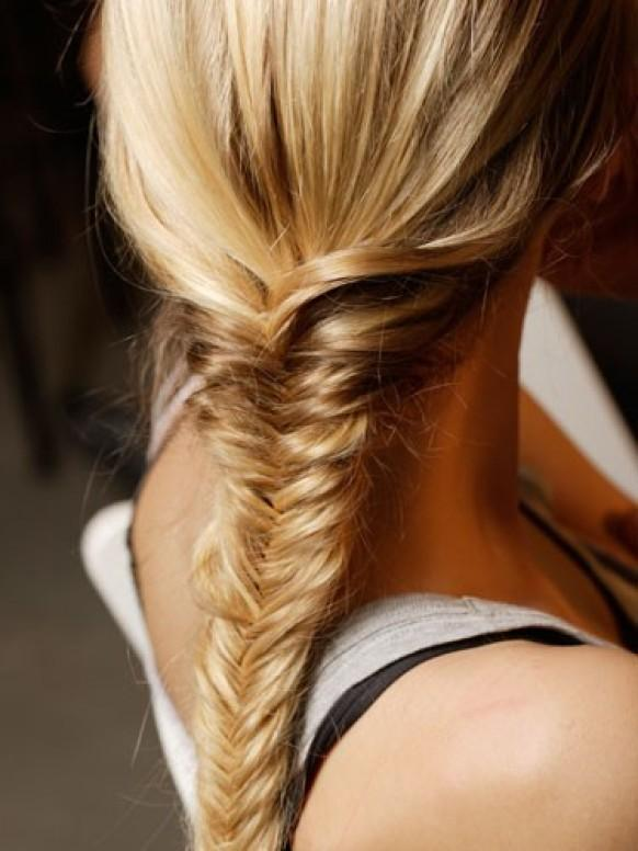 Fish Tail Braid Hairstyle  Hair Inpspiration #890967 - Fishbone Braid Hairstyles