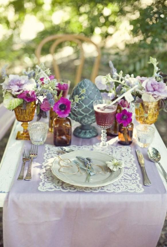 summer wedding unique wedding table decoration ideas 893611 weddbook. Black Bedroom Furniture Sets. Home Design Ideas
