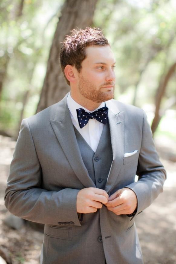 Groom Suit Bow Tie Dot Bow Tie Groom Suit