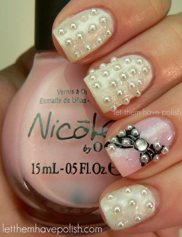 Easy white prom nail designs