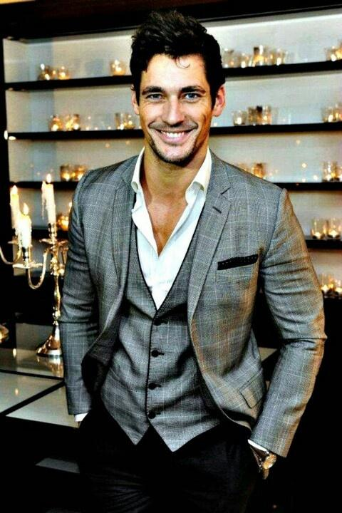 Handsome British Model David Gandy ♥ Cool Groom Suits Idea ...