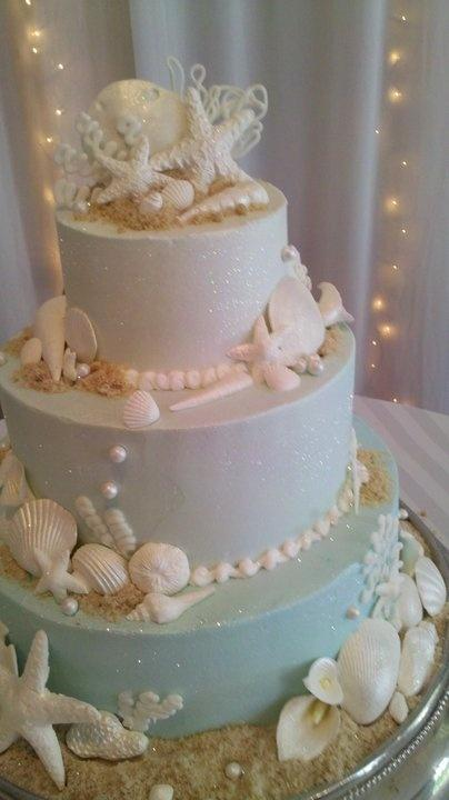 Edible Cake Decorations Beach : Beach Wedding Cake Decoration   Wedding Cake With Edible ...