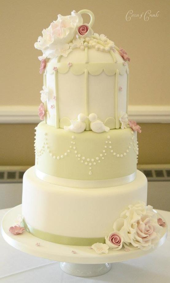 Pretty 3 Tier Birdcage Wedding Cake By Cotton And Crumbs #1121445 ...