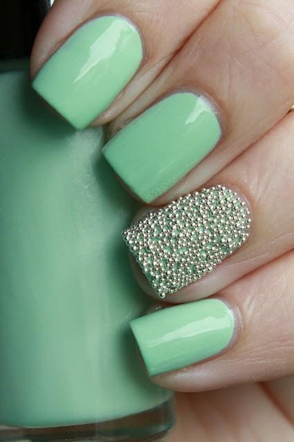 One Nail Caviar Mini Tiny Ball Beads Trend Nail Art Design